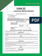 Urea Ammon Nitrate Solution 32-0-0