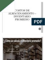 Costos de Almacenamiento e Inventarios Promedio 3