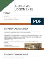 Planta Pirometalurgicas de Produccion en El Peru