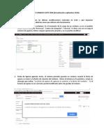 Instructivo Cambios Suite Crm (Dispacher)