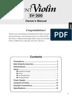SV200 Owner's Manual