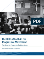 The Role of Faith in the Progressive Movement