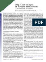 Estimating the timing of early eukaryotic diversification with multigene molecular clocks
