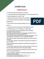 Oral Histology Quiz_Scientific Term[AmCoFam]