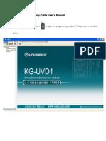 KGUVD1 Programming Cable User's Manual