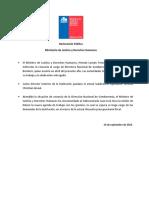 Declaración Pública Gendarmería