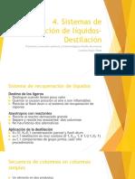 Semana 4. Sistemas de Destilación Para La Separación de Líquidos