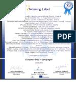 European Day of Language- Etwinning