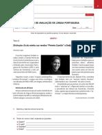 1º Teste Português Novas Leituras 7º Ano Com Soluções