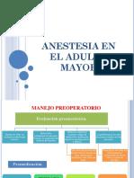 Anestesia en El Adulto Mayor