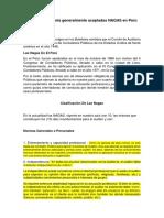Normas de Auditoría Generalmente Aceptadas NAGAS en Perú