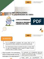 VALORIZACION Y LIQUIDACION DE OBRAS OSCE