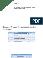 Concreto Armado II Clase I Diseño Sismorresistente.pptx