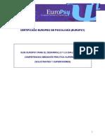 Ejemplo Solicitud EuroPsy Ambito Psicologia Educativa