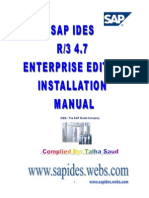 SAP IDES Installation Manual 4.7