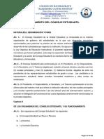Reglamento Del Consejo Estudiantil Alejandro Castro