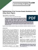 Sedimentology of the Turonian Ezeaku Sandstone in the Afikpo Basin, Nigeria