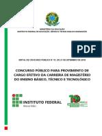 Edital n° 01 2018 EBTT IFMA