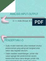 Modul Analisis I-O