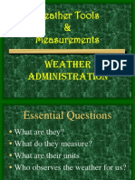 Weather Insturments and Measurements