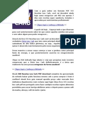 Dieta low carb pdf download