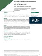Cerebello-spinal TDCS in Ataxia