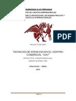TECNICAS DE ATENCION EN EL CENTRO COMERCIAL
