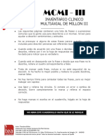 MILLON III Cuestionario