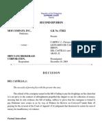 MOF Company, Inc. v. Shin Yang Brokerage Corporation, G.R. No. 172822, December 18, 2009