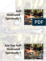 Are You Self Motivated Spiritually