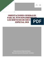 Orientaciones Generales Para El Funcionamiento de Los Servicios de Educación Especial 2018