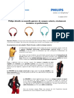 Philips dévoile sa nouvelle gamme de casques colorés, résolument tendance et performants