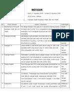 Notulen Audit Peralatan Medik
