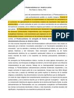 El Pentecostalismo en  América Latina