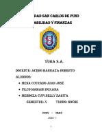 Analisis Financiero de Yura s.a.