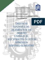 3er Dep. Elementos de Diseño Tanques y Recipientes Sujetos a Presion