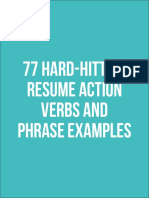 77 Hard-Hitting Resume Action Verbs and Phrase Examples