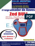Programador Llaves Zed Bull