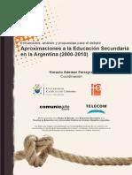 2012. Ferreyra Aproximaciones a La Educacin Secundaria