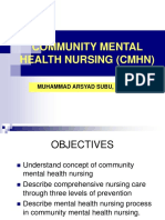 COMMUNITY MENTAL HEALTH NURSING (CMHN)
