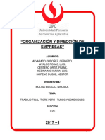 Tigre Perú - Grupo 2 - i12c - 201701c