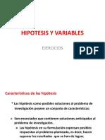 Ejercicio Hipotesis y Variables