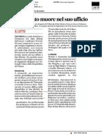 Magistrato muore nel suo ufficio - Il Corriere Adriatico del 26 settembre 2018