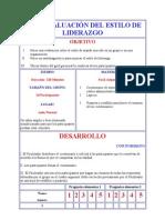 AUTOEVALUACIÓN DEL ESTILO DE LIDERAZGO