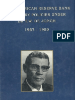 SARB Monetary Policies Under Dr TW de Jongh 1967-1980