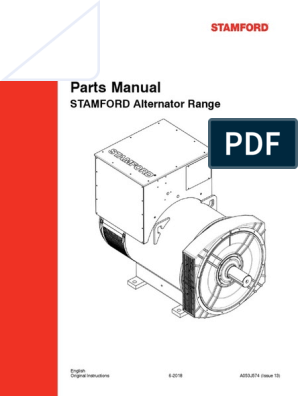 Stamford Parts Manual Issue 13 Electrical Engineering