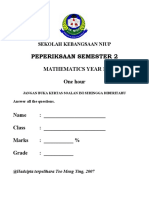 Final Exam Mathematics Year 1
