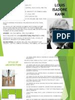 Louis Kahn - A Study