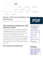 5G Network Architecture _ 5G Protocol Stack
