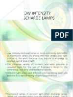 LESSON 3 Low Intensity Discharge Lamps